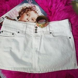 ABERCROMBIE & FITCH White Mini Skirt Size 4